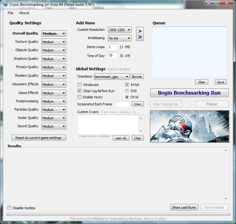 Crysis benchmark dx10 vista x64 | james tombs.